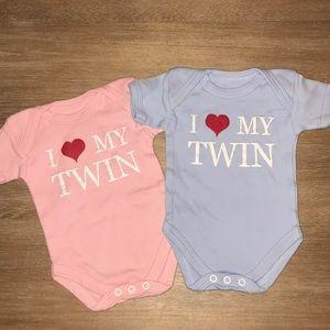 Boy/Girl Twin Onesies